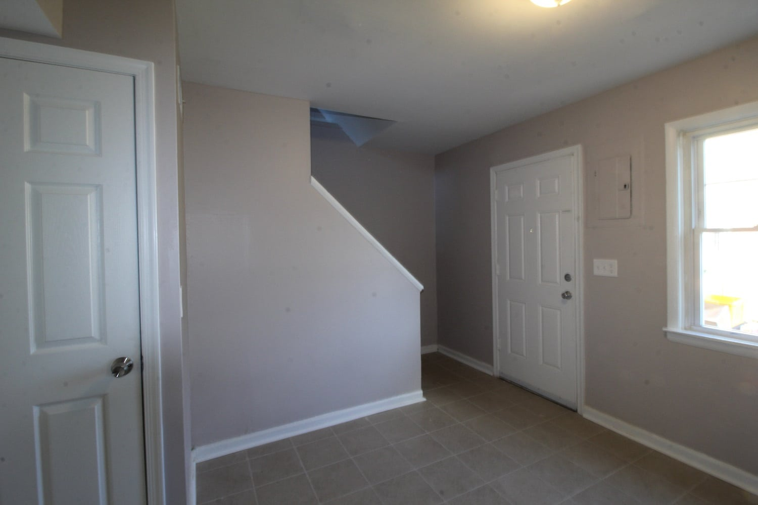Outside of Staircase in Garrison Townhomes