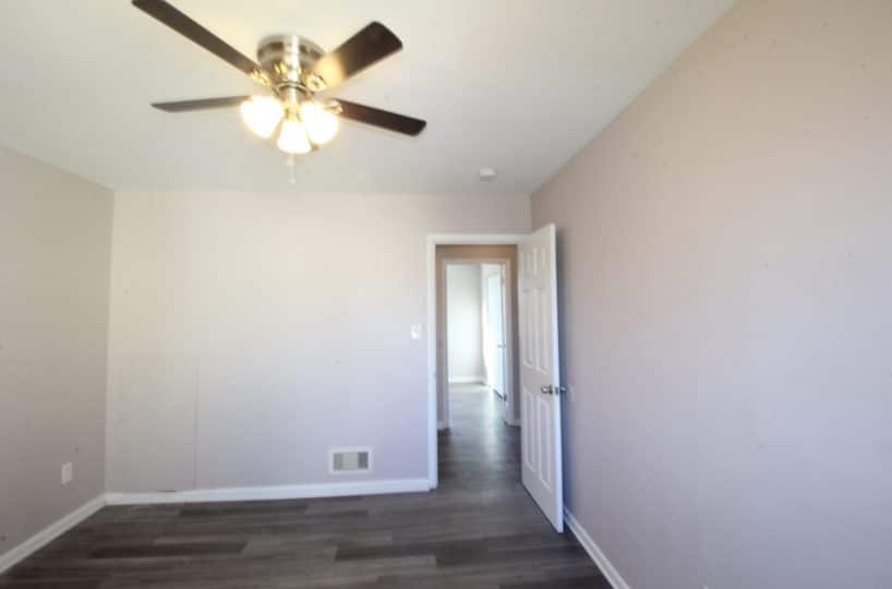 Ceiling Fan in Bedroom at Garrison Townhomes