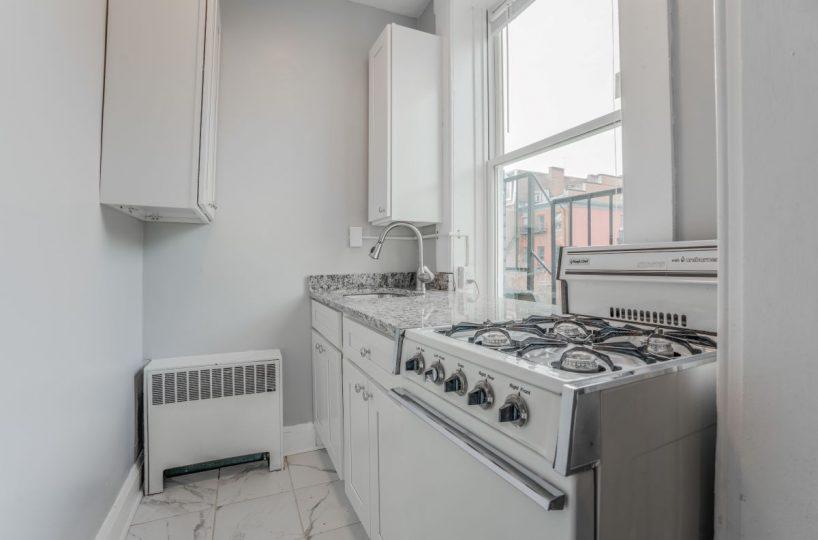 White Kitchen with Oven 10 E Madison Apt 2D