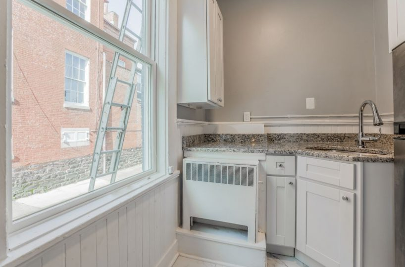 Large Window with Kitchen Counter and Sink 10 E Madison Apt 3B