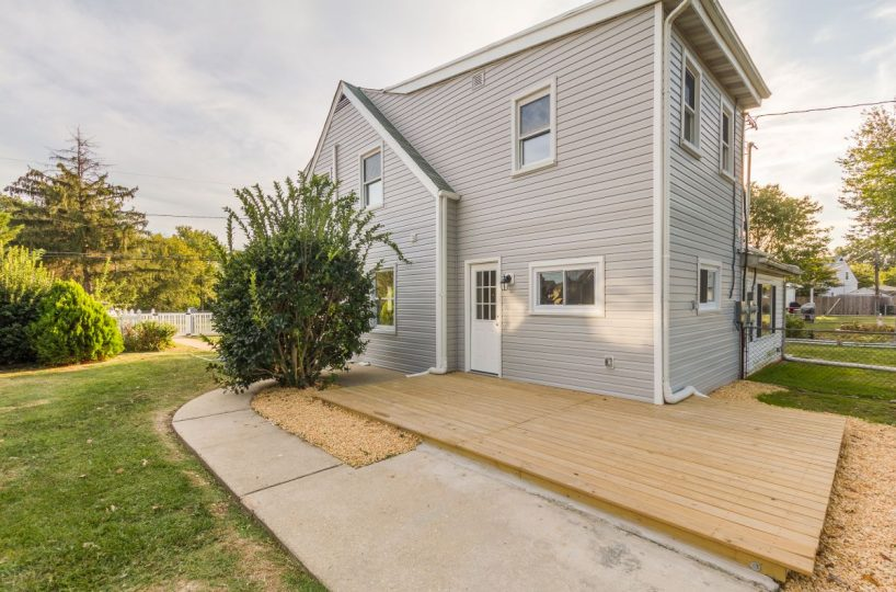 Beautiful house with deck and yard at 7722 N Cove Road