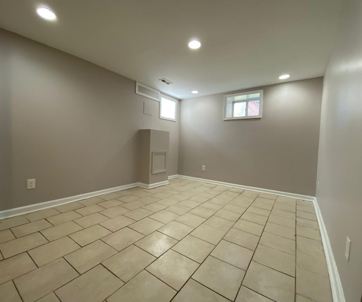 Finished tiled basement with two windows 534 Beaumont Ave