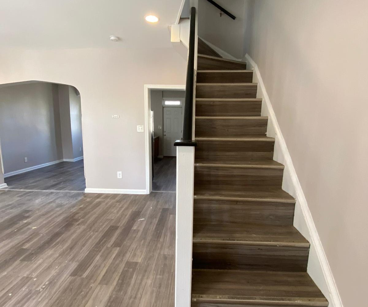 Living Room and Stairs at 534 Beaumont Ave