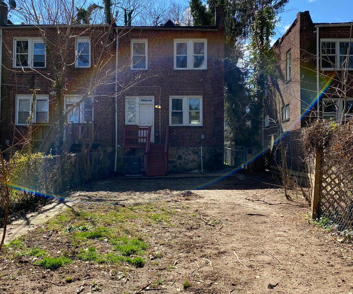 Backyard of 534 Beaumont Baltimore