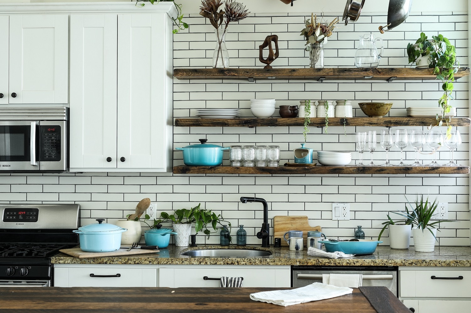 mornings less stressful with organized kitchen