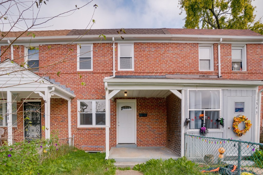 View of Front of House at 345 Endsleigh Avenue in Baltimore