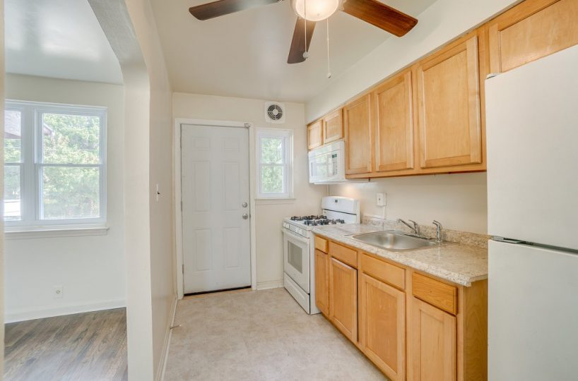 Kitchen with Wood Cabinets at 345 Endsleigh Ave