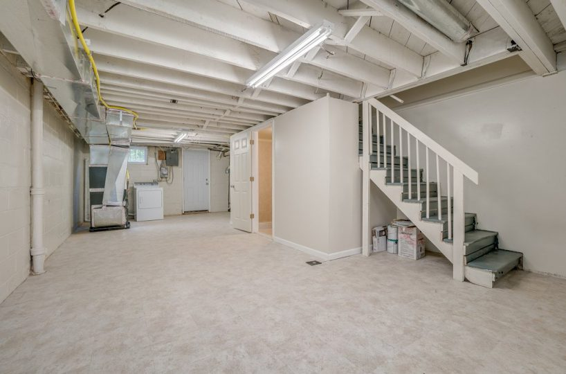 Basement with View of Stairs at 345 Endsleigh Ave