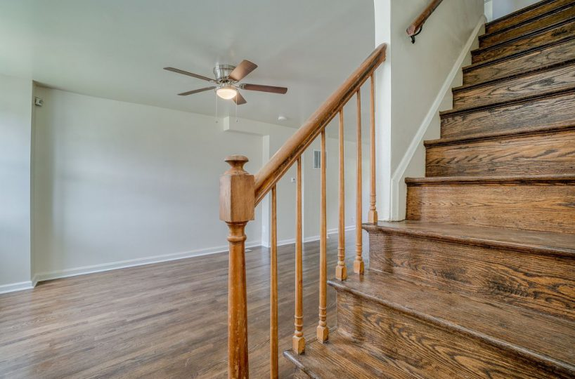 Living Room and View of Stairs at 345 Endsleigh Ave