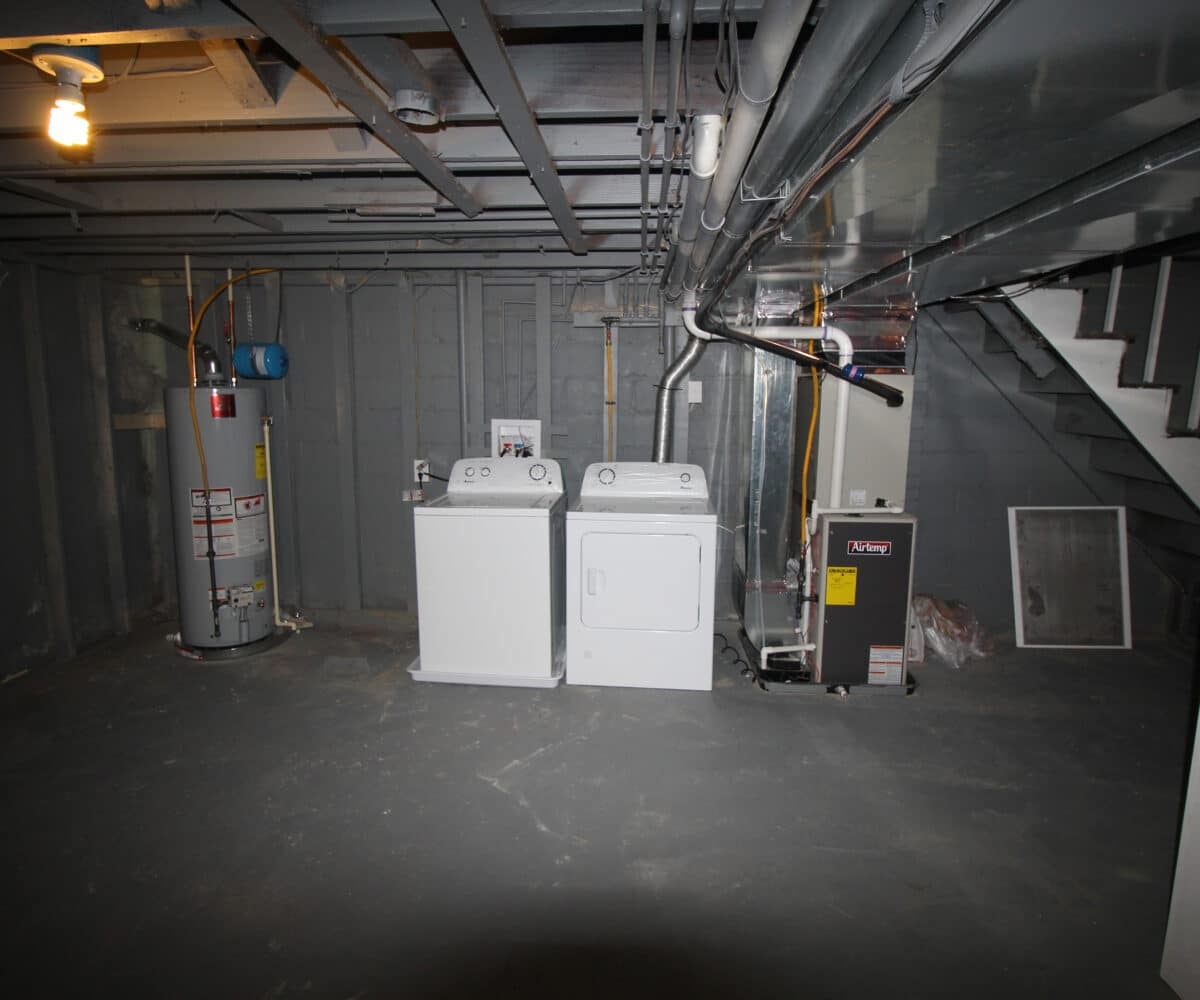 Basement with Washer and Dryer on Kentway