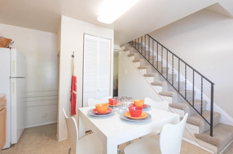 Kitchen with View of Stairs