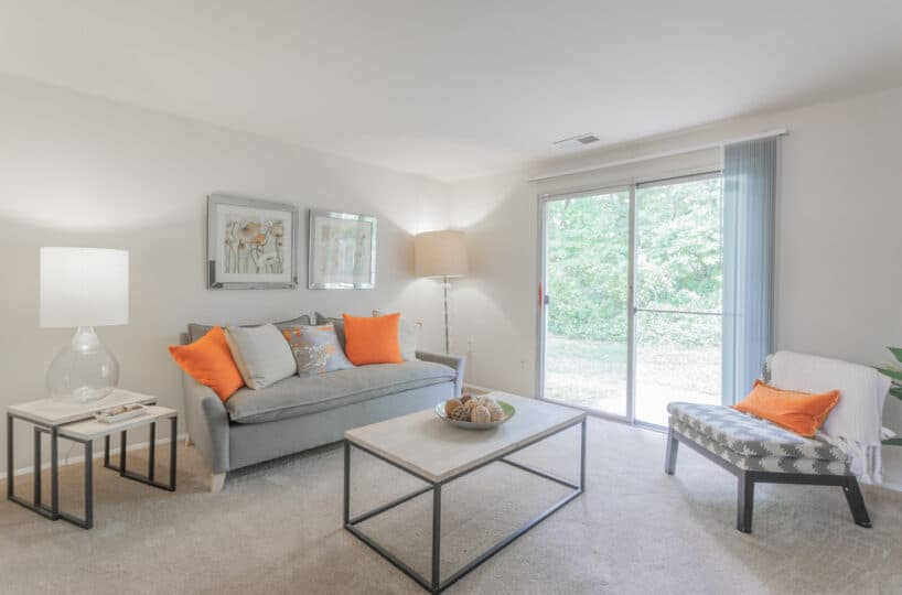 Fontana Living Room with Sliding Door to Yard